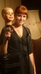 Sarah Jones with Dummy