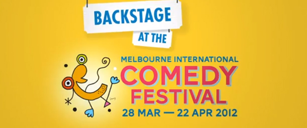 Backstage at the Melbourne International Comedy Festival.